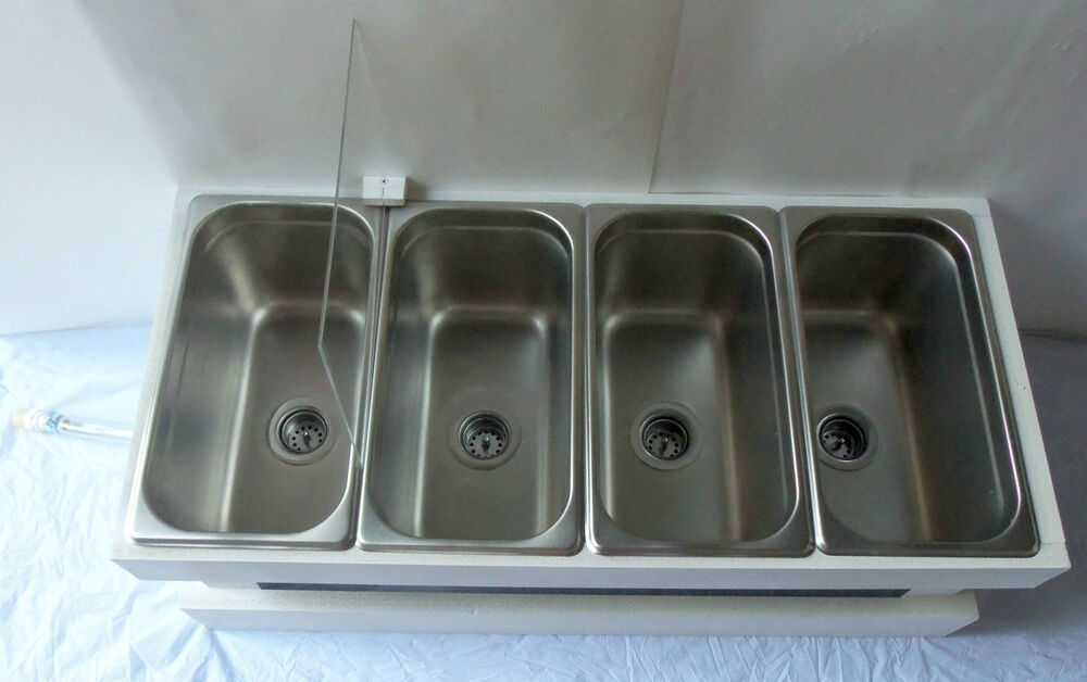 Portable Sink Mobile Concession 3 Compartment With Hand