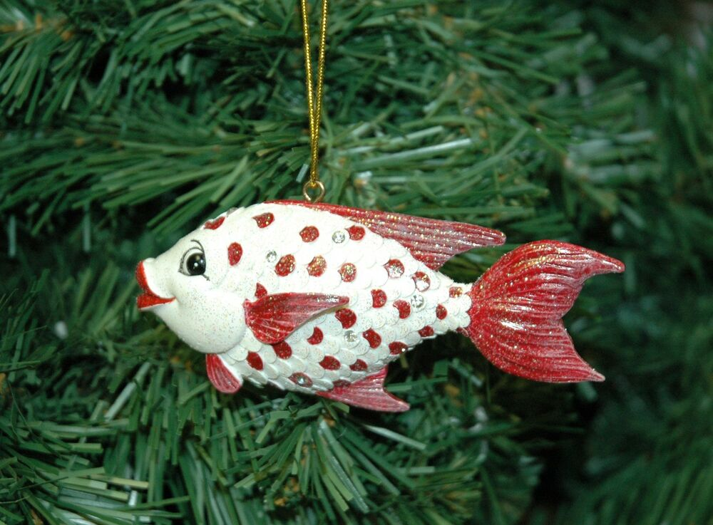 Candy Dots Fish, Fishing Christmas Ornament | eBay