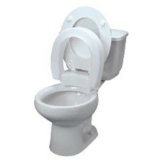 New Style Hinged Elevated Toilet Seat Riser Select Round