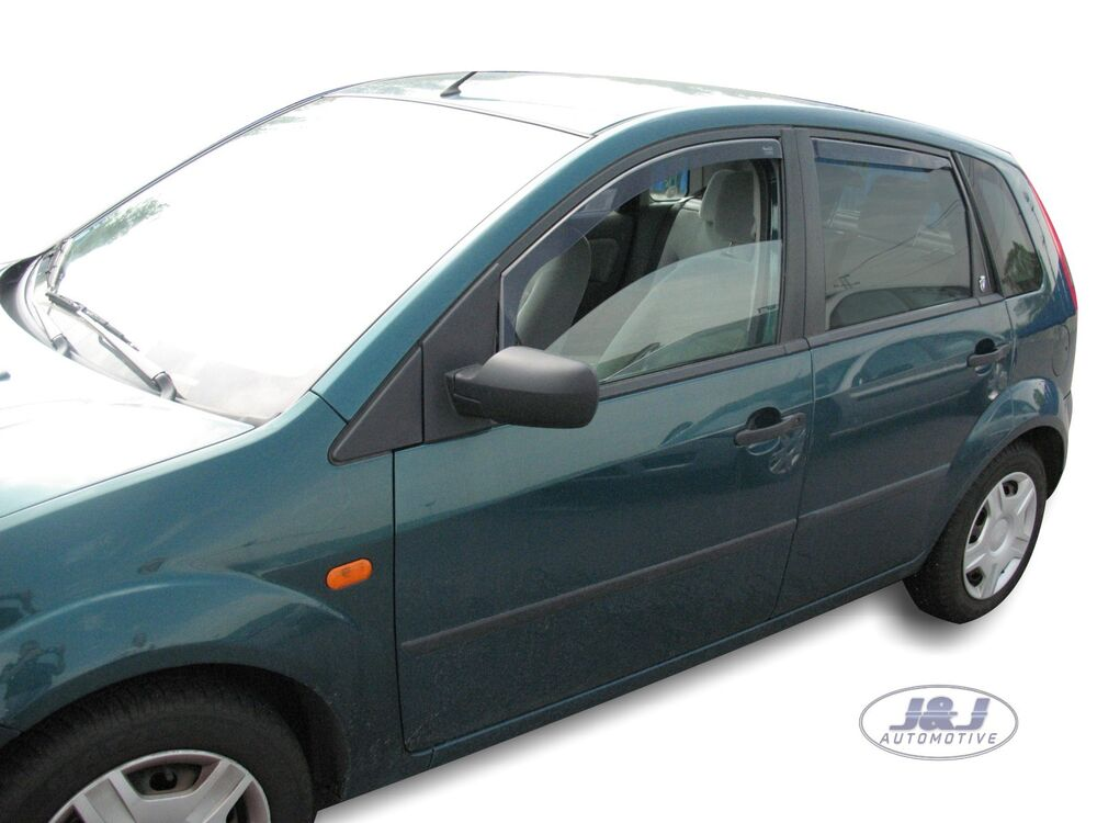 dfo15254 ford fiesta mk6 5door 2002 2008 wind deflectors 4pc tinted heko ebay. Black Bedroom Furniture Sets. Home Design Ideas