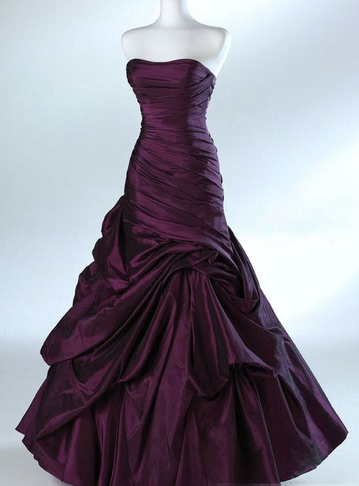 Black cadbury purple or red halloween wedding dress goth 8 for Ebay wedding dresses size 18 uk