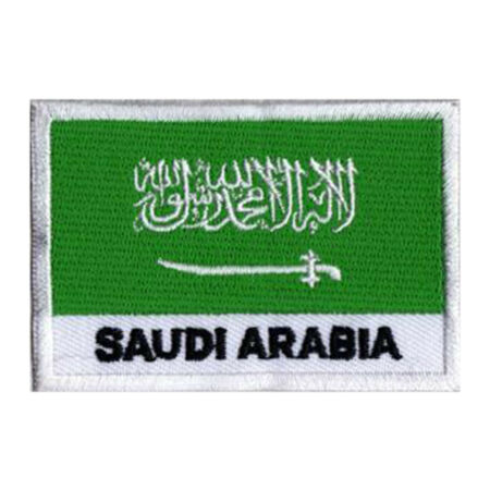 img-Patch badge drapeau écusson patche ARABIE SAOUDITE 70 x 45 mm brodé coudre
