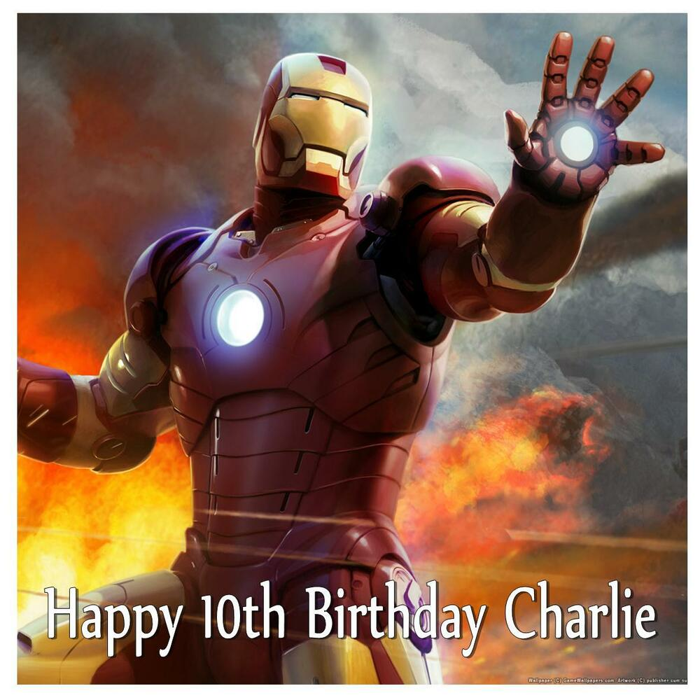 Iron Man Cake Topper Uk