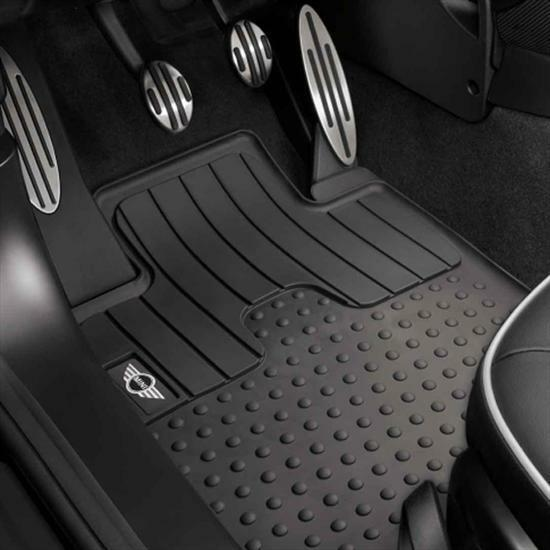 mini cooper hardtop convertible clubman front rubber floor mats oem 51472231957 ebay. Black Bedroom Furniture Sets. Home Design Ideas