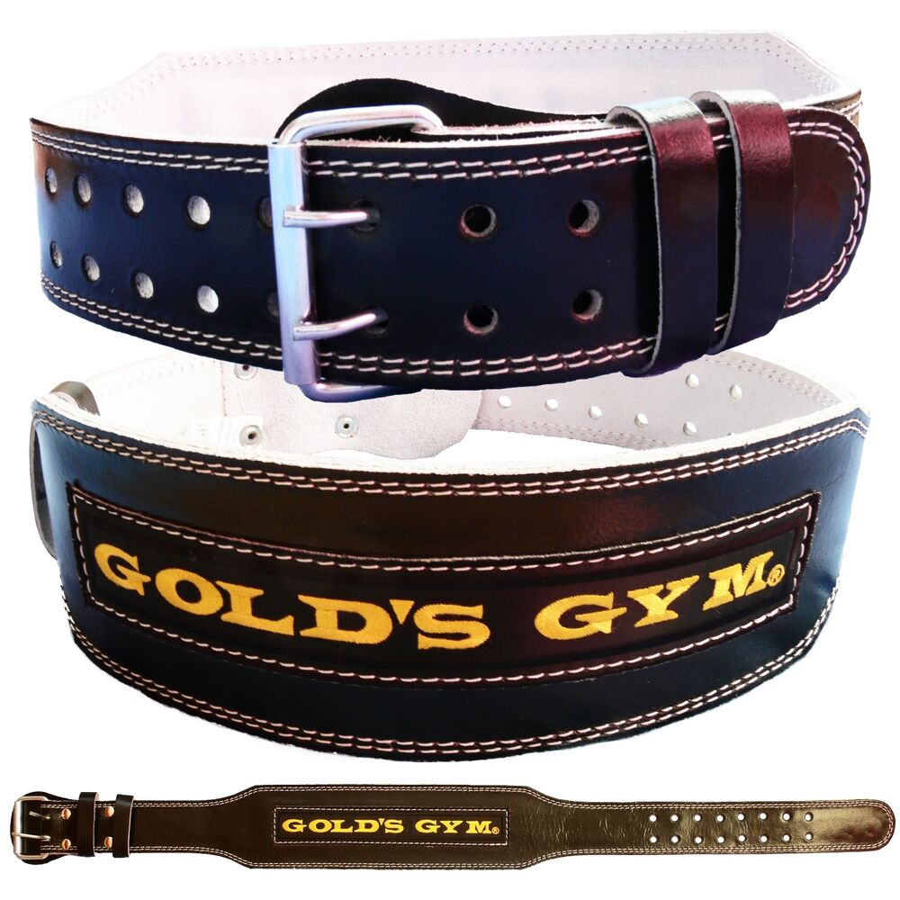 """Small Gym Bodybuilding Black Leather Fitness Lifting: Golds Gym Weight Lifting Belt 4"""" Leather Lumbar Back"""