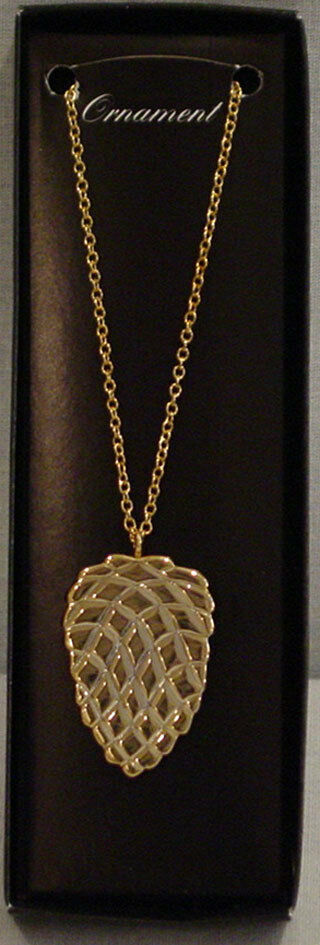 georg jensen gold plated 1994 christmas pine cone ornament. Black Bedroom Furniture Sets. Home Design Ideas