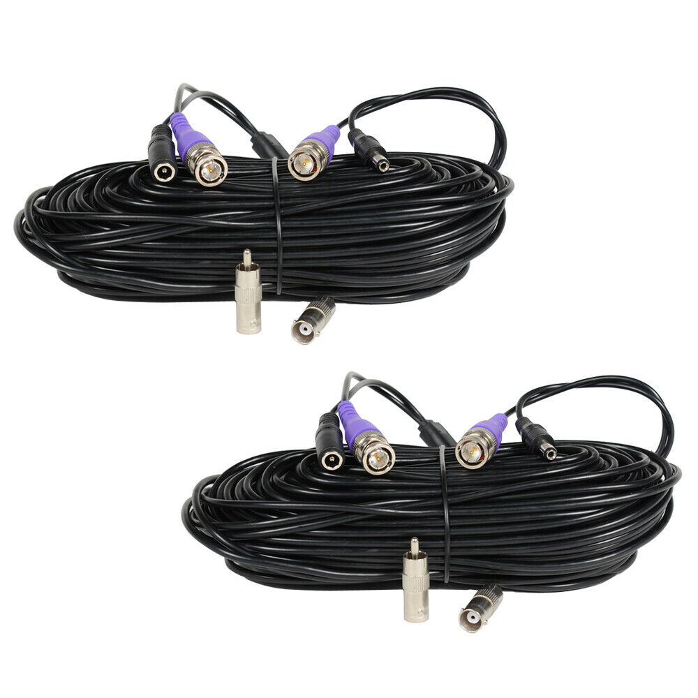 2x100ft Video Power Extension Cable Cctv Surveillance