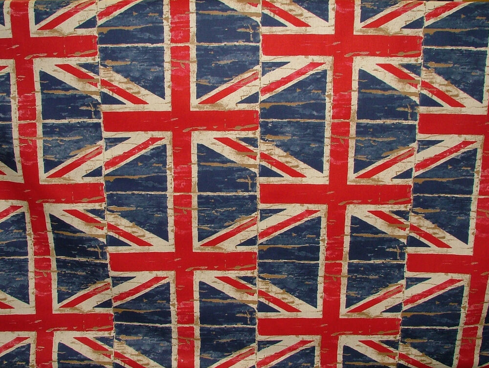 Union Jack Flag Denim Prestigious Retro Designer Curtain
