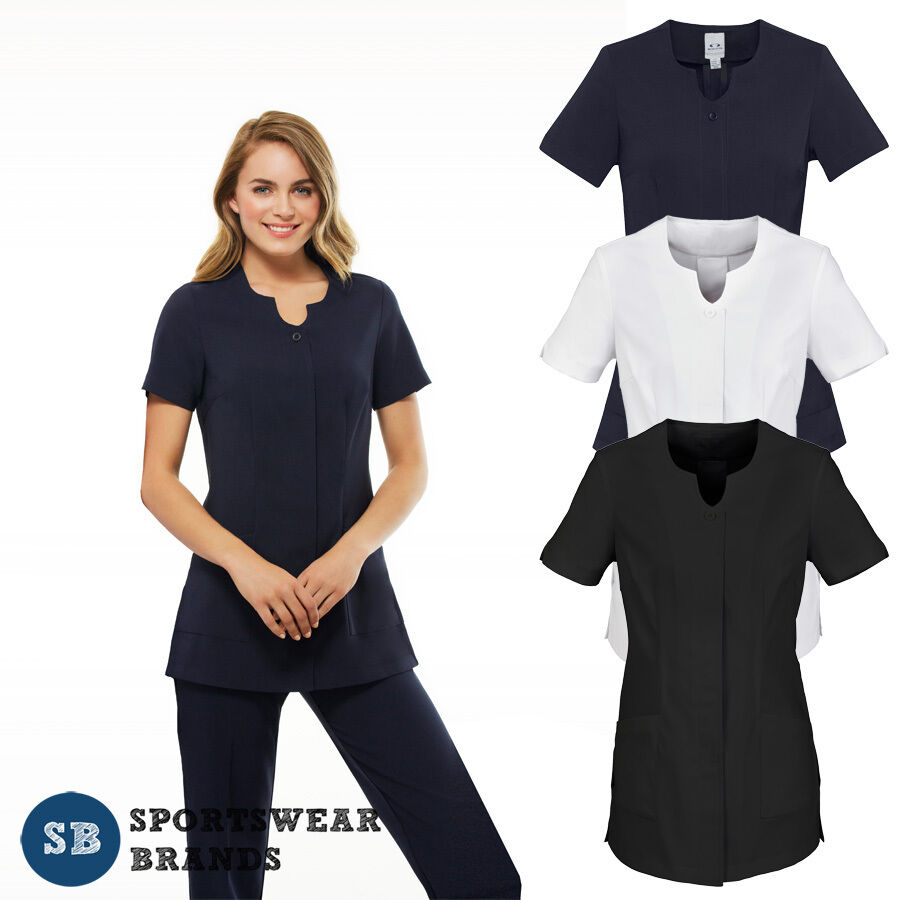 Ladies eden tunic chemist beauty salon medical wear womens for Spa uniform female