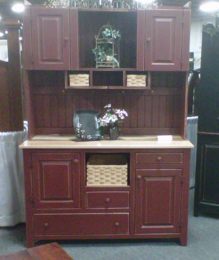Furniture Kitchen Cabinets: Amish Kitchen Hutch Pantry Cabinet Primitive Country Pine