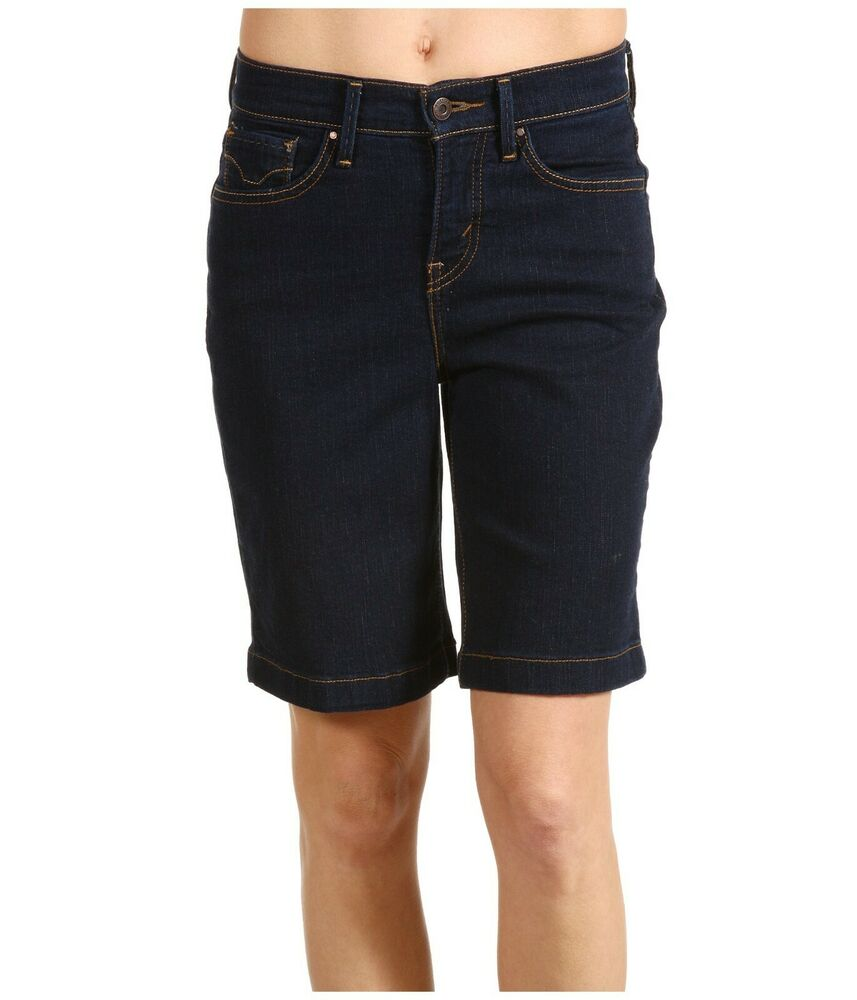 09a36af9f8 Details about Levi's ~ 512 Perfectly Slimming Bermuda Jean Shorts Women's 4  NWT $38