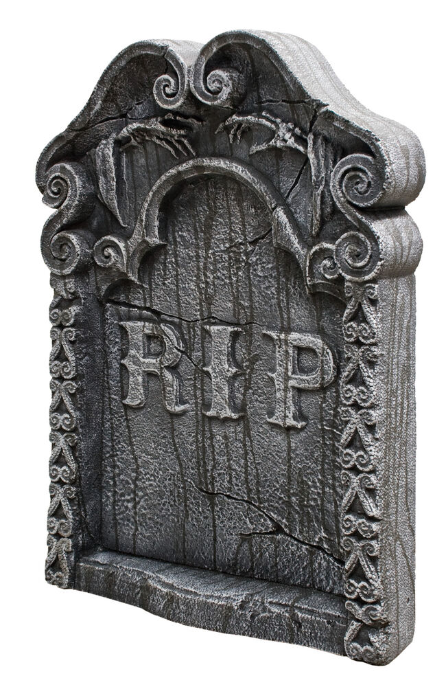 REST IN PEACE TOMBSTONE GRAVEYARD HAUNTED HOUSE HALLOWEEN ...