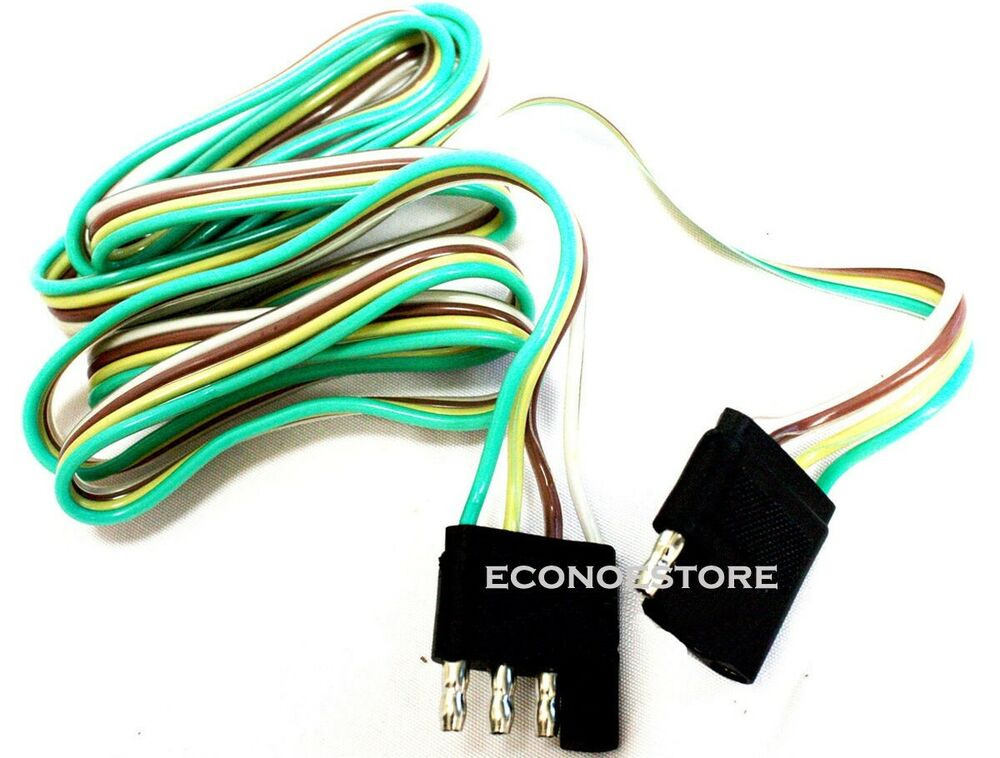 a way to wire 4 plug diagram 5 ft 4 way flat trailer light wire extension cord plug ... six wire trailer plug diagram