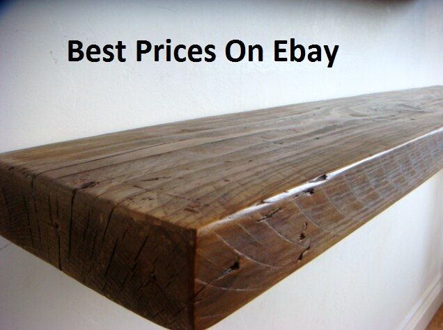 Chunky Rustic Wood Floating Shelf Shelves Mantel Custom