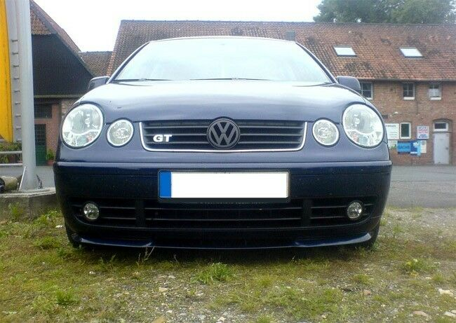 f r vw polo 9n front spoiler lippe frontsch rze frontlippe frontansatz gti gt ebay. Black Bedroom Furniture Sets. Home Design Ideas
