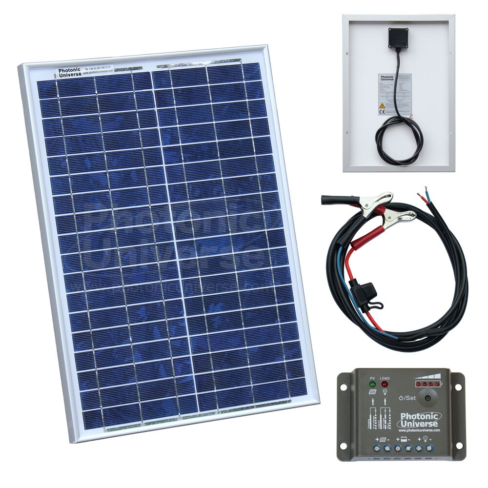 20w Solar Panel Kit With Controller For Camper Caravan