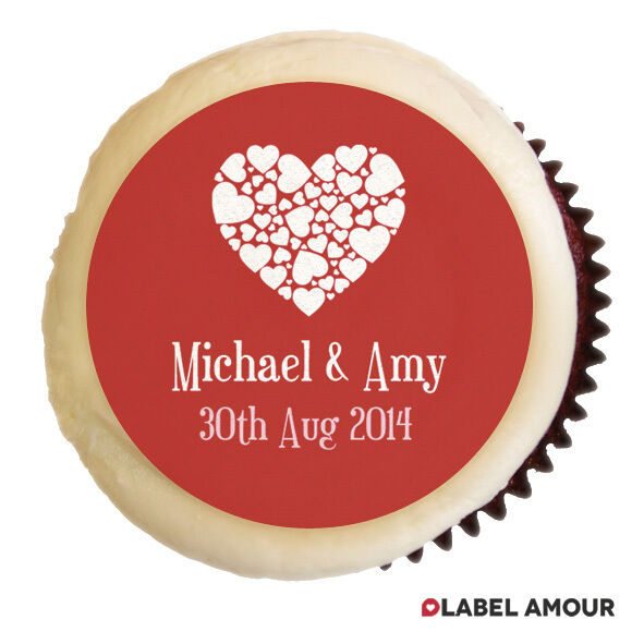 Personalised Wedding Cup Cake Toppers