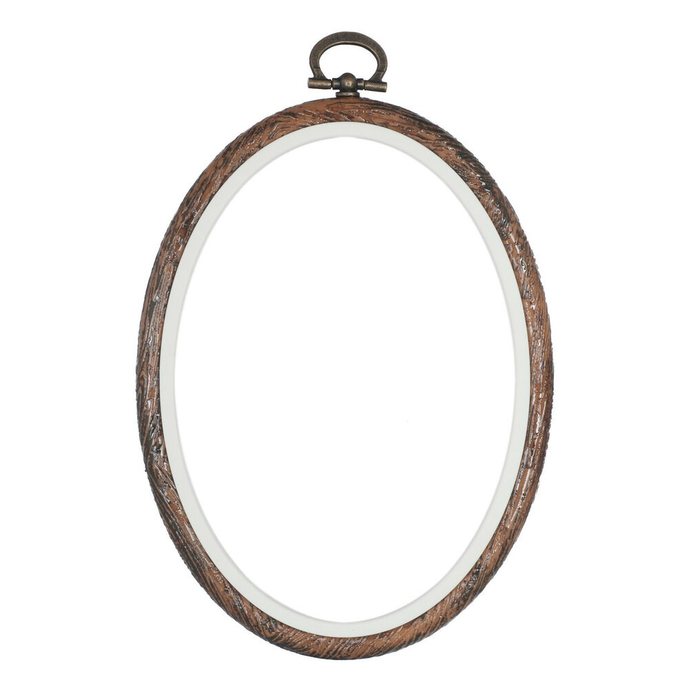 Embroidery Flexi Hoop CrossStitch Sewing Oval Plastic Frame - 4 X 5 Inch | EBay