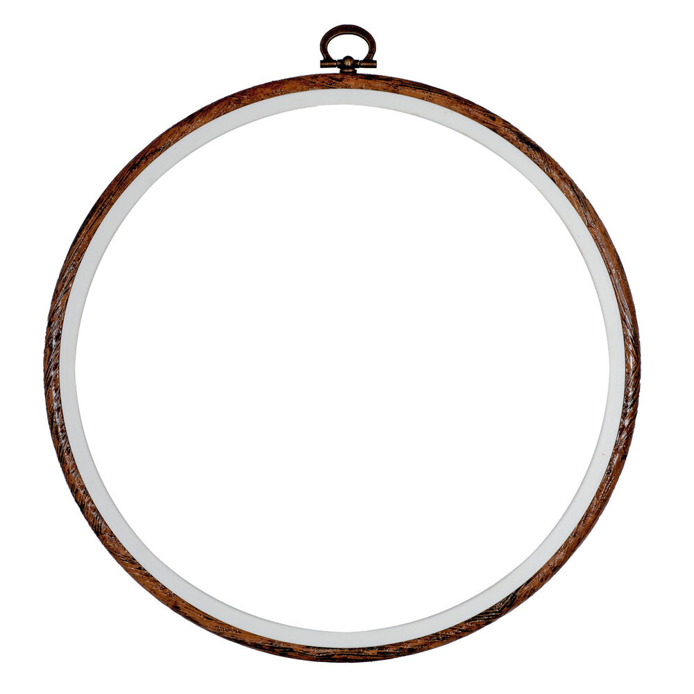 Embroidery Flexi Hoop CrossStitch Sewing Round Plastic Frame Free Postage 8 Inch | EBay