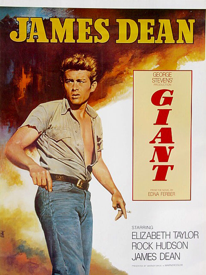 Giant (1956)•James Dean•Elizabeth Taylor•Hudson•Vintage Movie Poster Art 20x28 | eBay