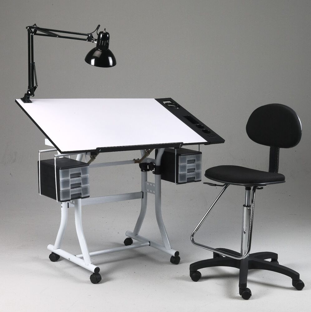 Drawing / Art / Hobby / Craft Table Desk   w/ Drawers ...
