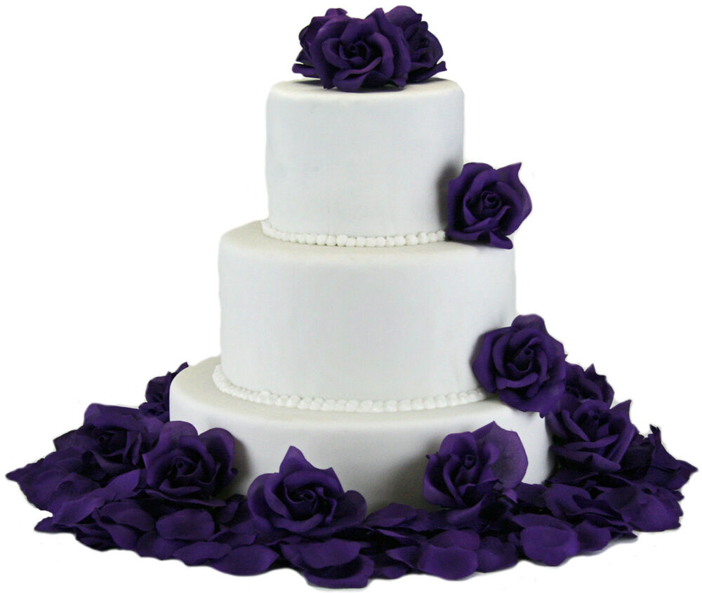 wedding cake silk flowers decorations purple silk cake flowers wedding decoration ebay 24546