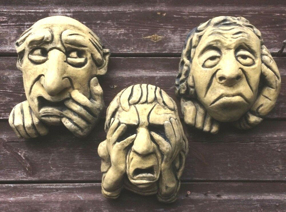 Oxford grotesques set 3 gothic gargoyle wall plaques ugly - Watch over the garden wall online free ...