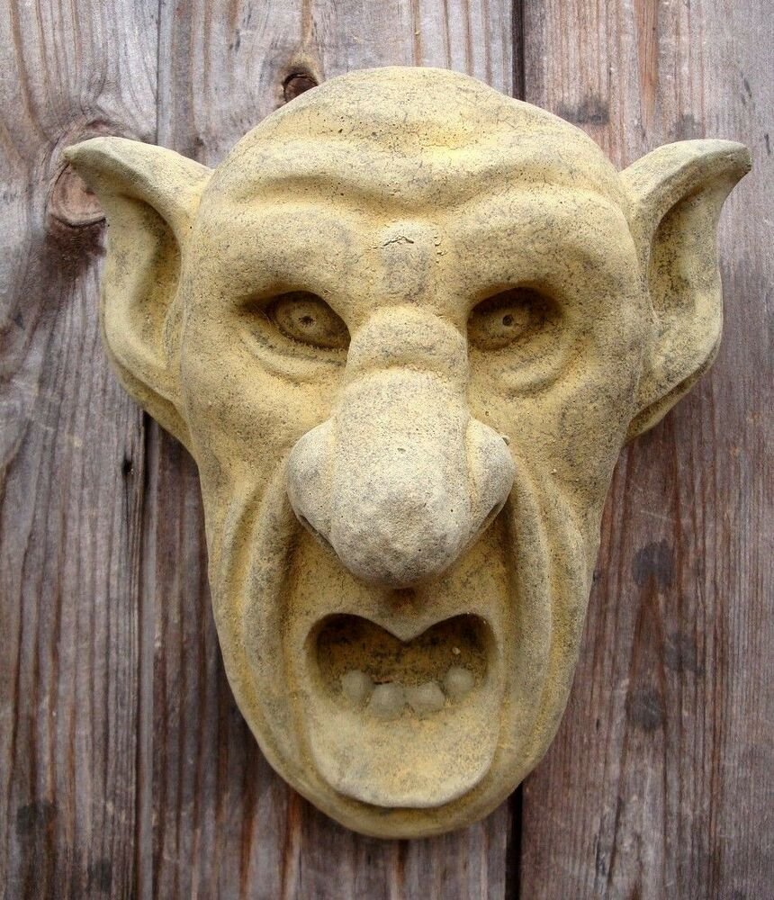 Big ears oxford grotesque gargoyle face gothic wall plaque - Watch over the garden wall online free ...