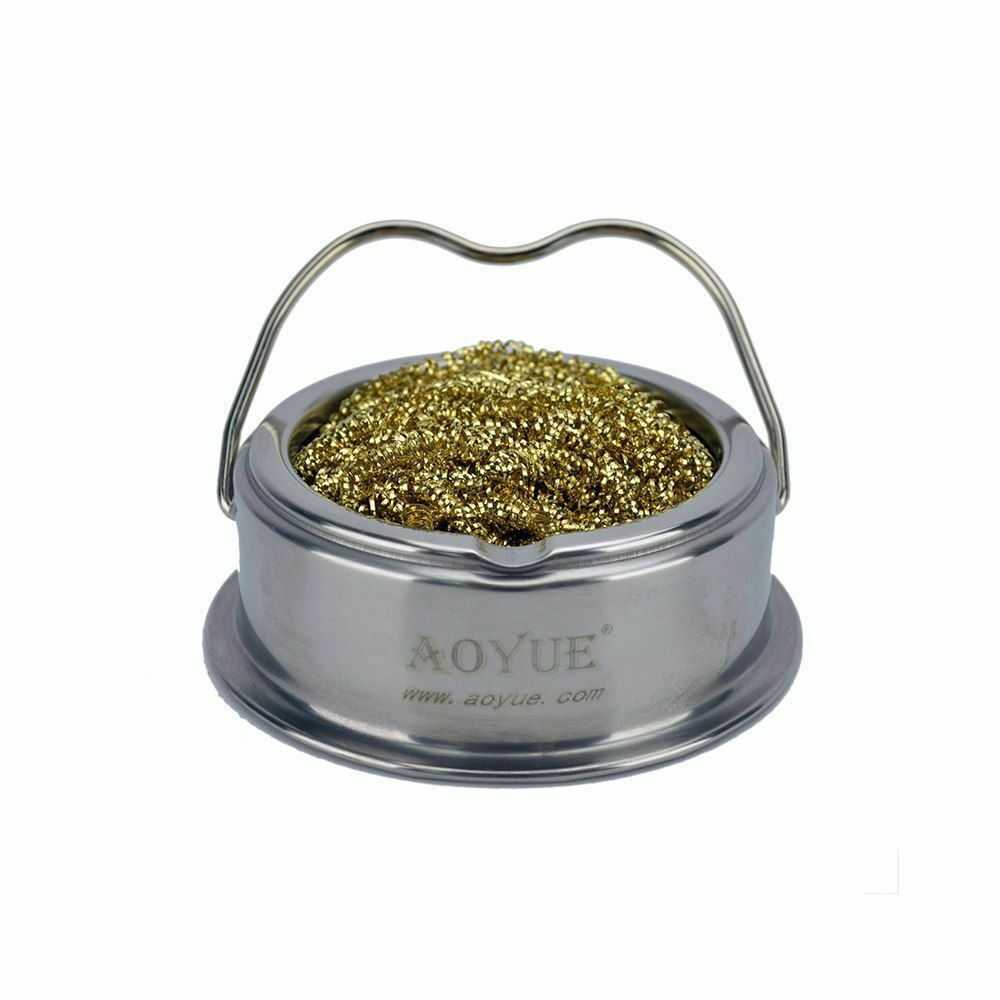 aoyue soldering iron tip cleaner with brass coils ebay. Black Bedroom Furniture Sets. Home Design Ideas