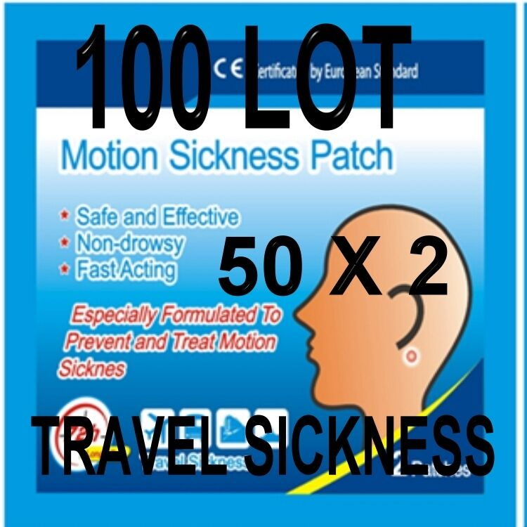 100 ANTI TRAVEL SICKNESS PATCHS HELPS PREVENT SEA CAR