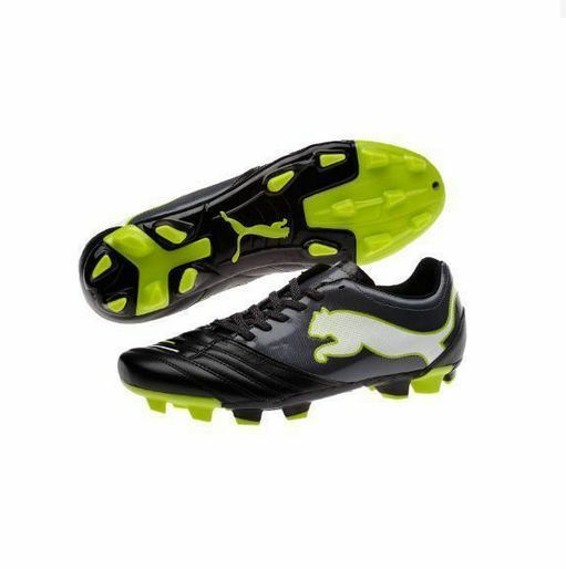 Black And Lime Green Puma Shoes