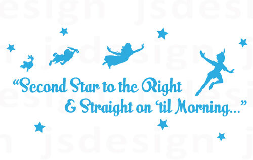 Wall Decal Sticker - Quote - Vinyl - Peter Pan Nursery ...