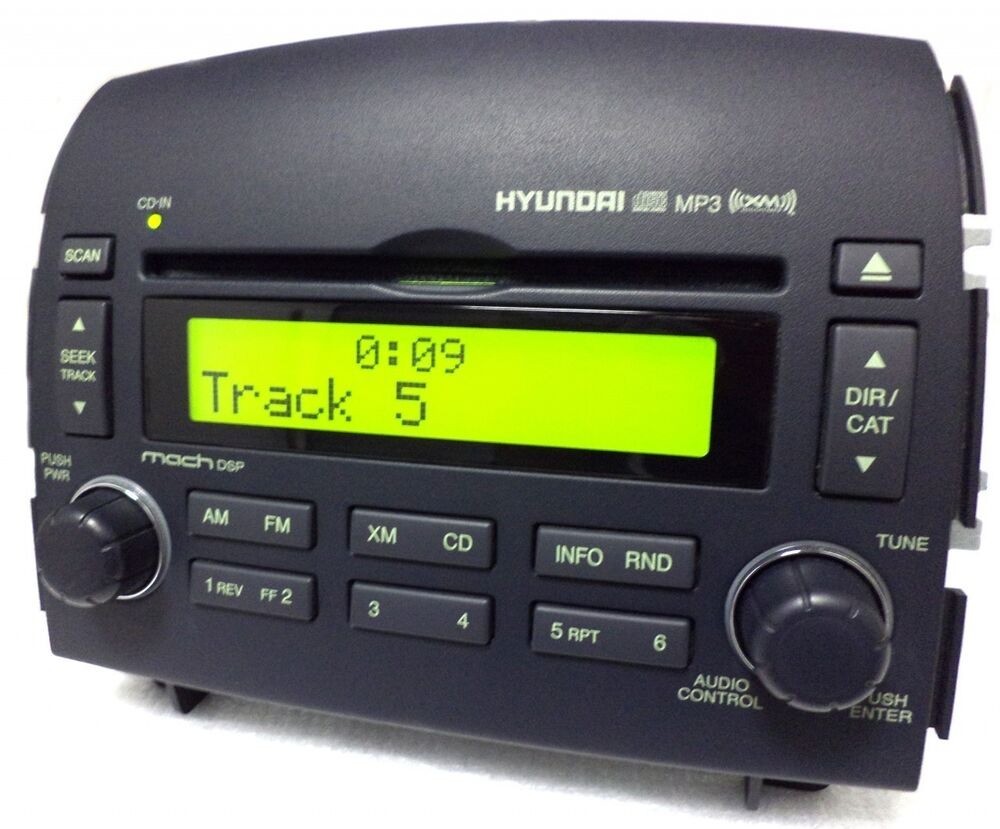 06 07 08 hyundai sonata radio stereo mp3 cd player oem xm. Black Bedroom Furniture Sets. Home Design Ideas