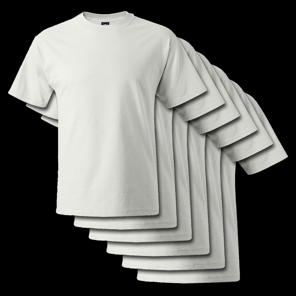 6 pack white hanes beefy t 5180 cotton tee s 6xl blank. Black Bedroom Furniture Sets. Home Design Ideas