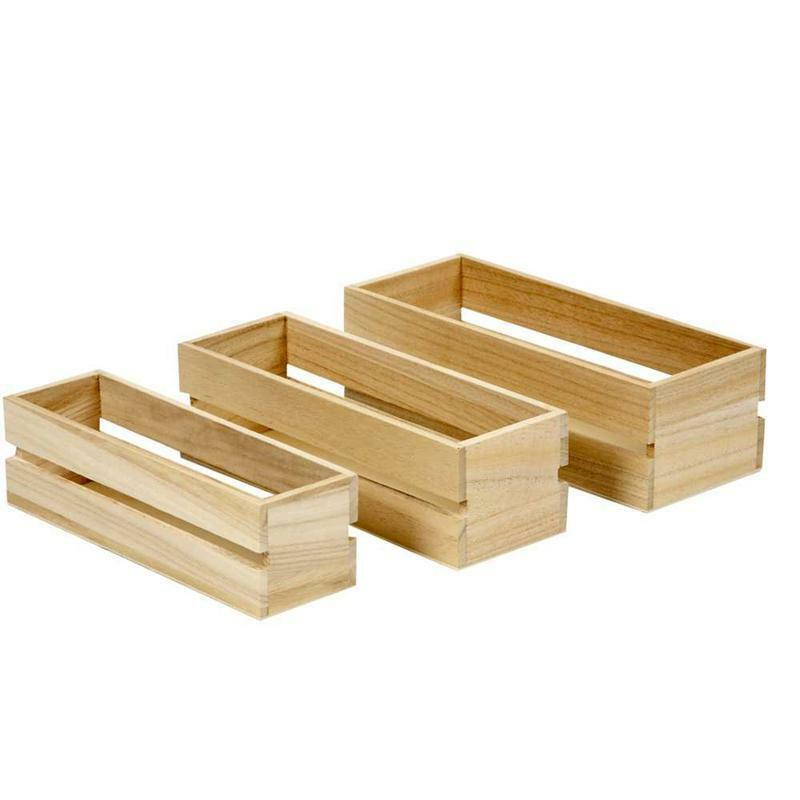 3 x vintage wooden fruit crates boxes storage personalise for Wooden fruit crates