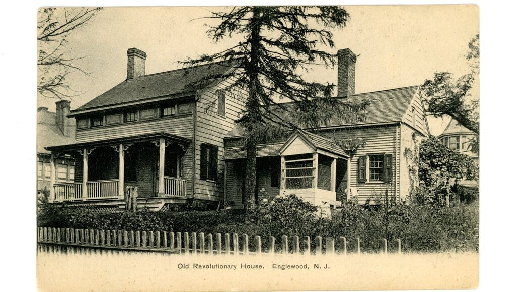 Englewood nj the old revolutionary house postcard ebay for New jersey house music