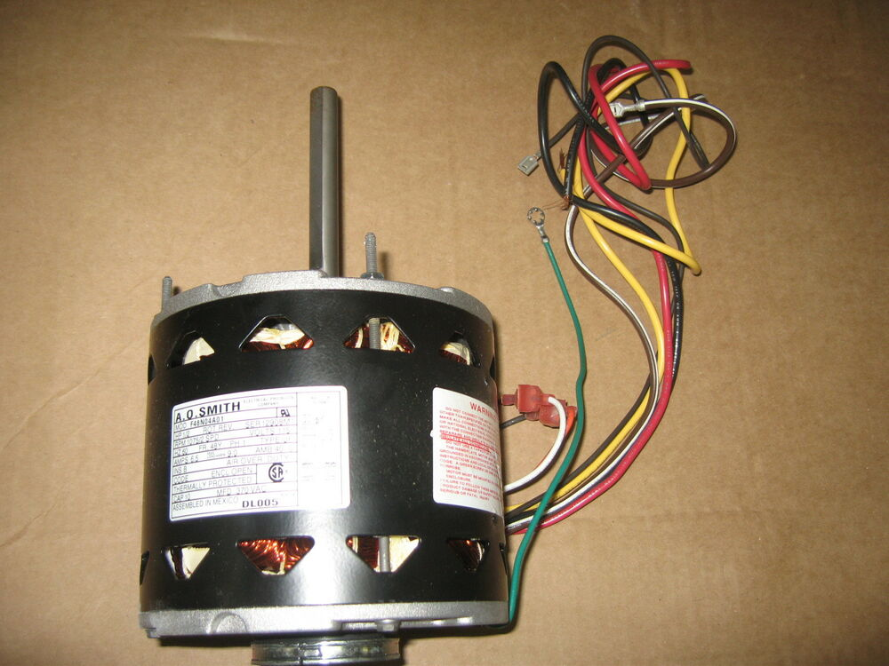 A o smith dl005 blower motor 1 2hp 1075rpm 2 speed for Ao smith furnace blower motor