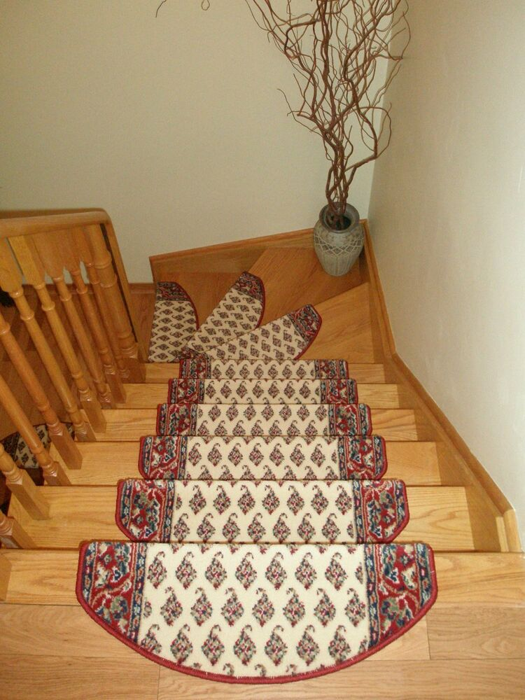 Set Of 15 Luxury Carpet Stair Mats Treads Rugs Runners For