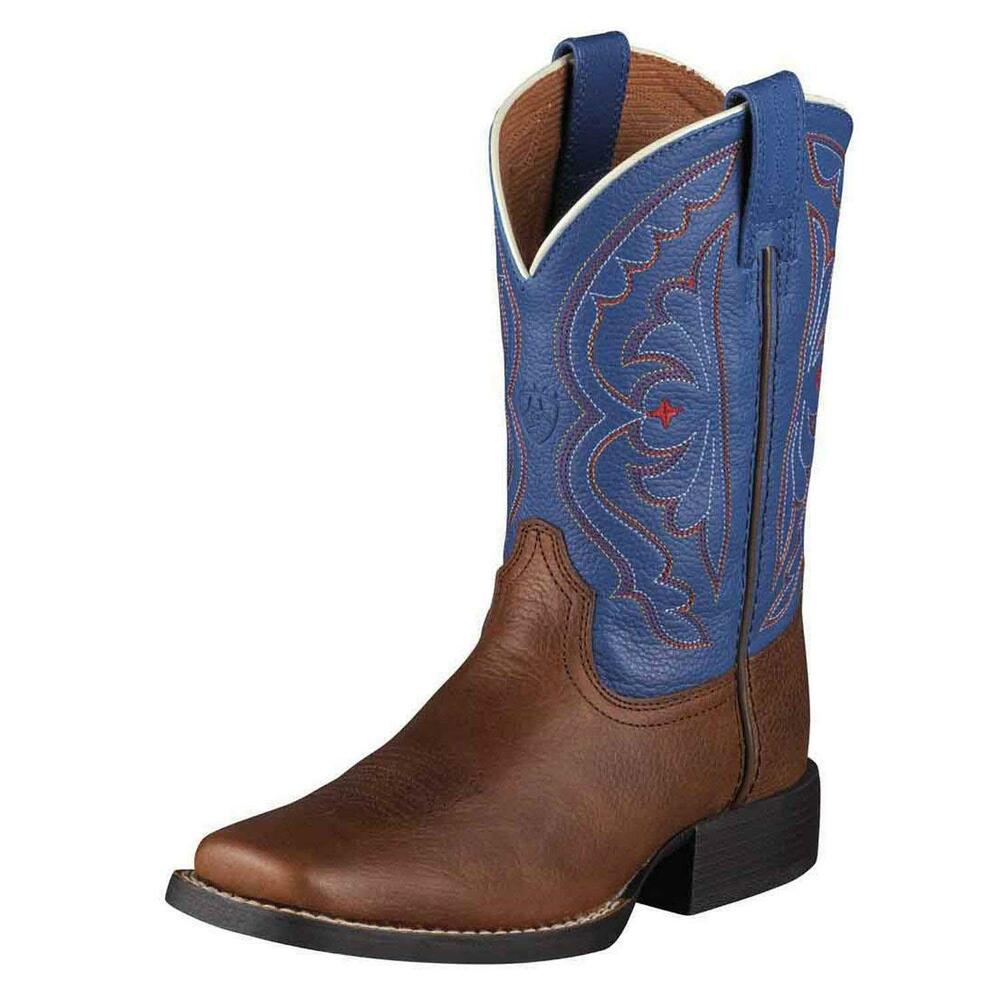 ariat kid s boys quickdraw pull on cowboy western boots