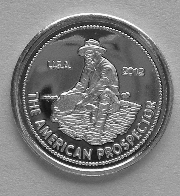 10 1 Gram 0 999 Pure Silver American Prospector Rounds