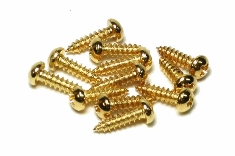 tuner machine replacement screws for fender and gibson guitars qty 12 gold ebay. Black Bedroom Furniture Sets. Home Design Ideas