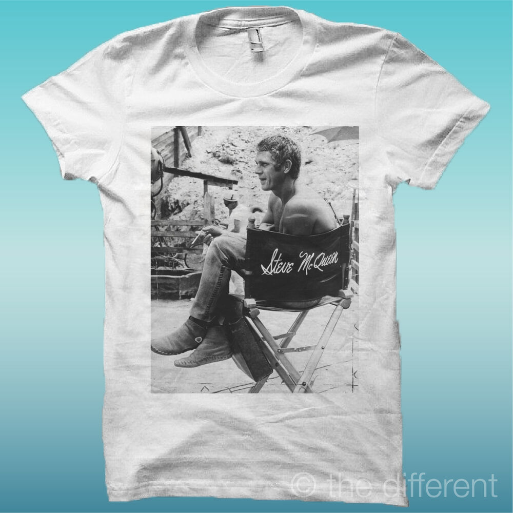 t shirt steve mcqueen colore bianco ebay. Black Bedroom Furniture Sets. Home Design Ideas