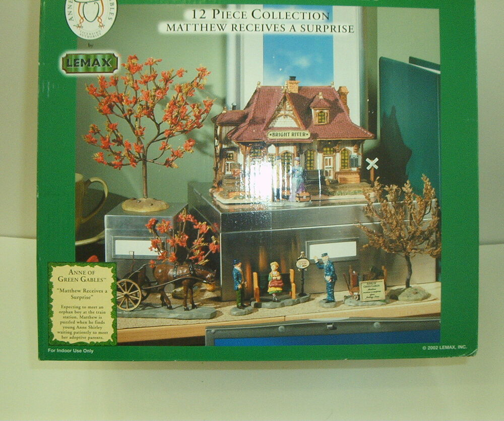 Lemax Anne Of Green Gables Complete Set Train Station Ebay
