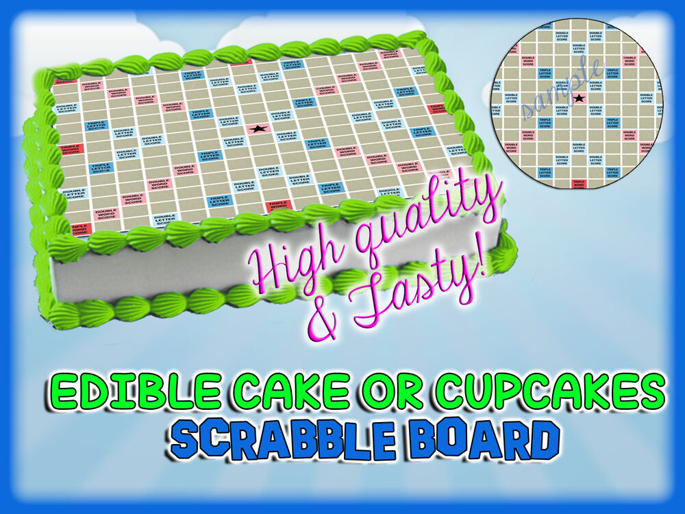 SCRABBLE Cake Toppers Edible image sugar SHEET topper ...