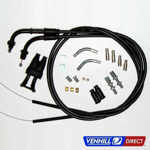 Venhill Universal Dual Throttle Motorcycle Cable Kit Ebay