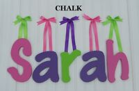 """Wooden Wall Letters 8"""" size Painted Wood Children Baby Nursery Name Decor Chalk"""