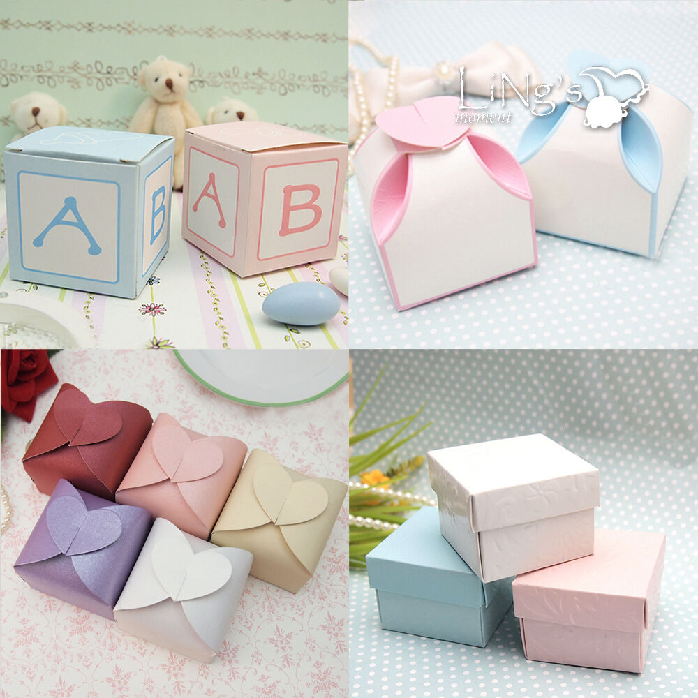 Boxes For Baby Shower Favors: 50 100 Wedding Favor Gift Candy Chocolate Boxes Baby