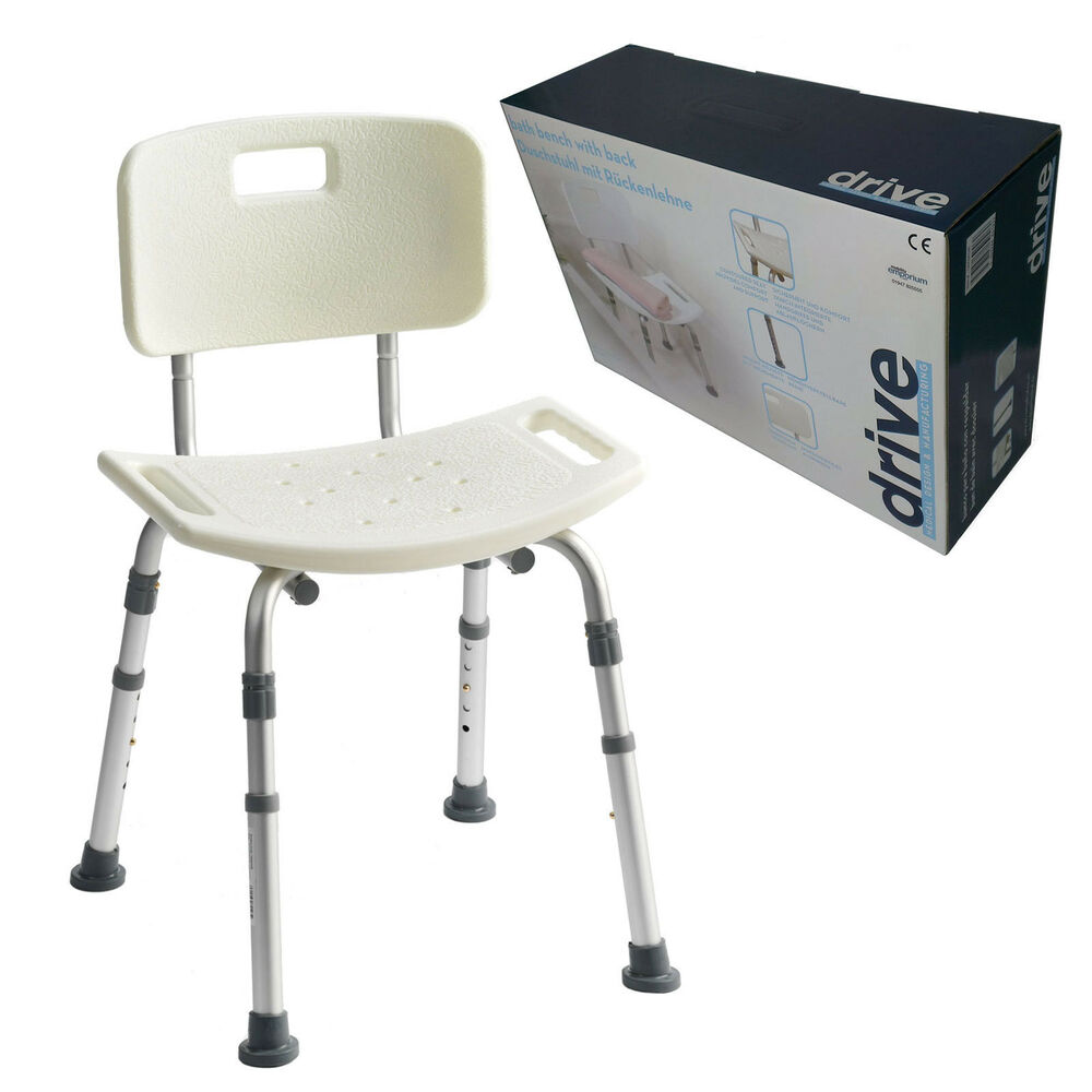 aluminium bath shower seat stool chair adjustable height mobility