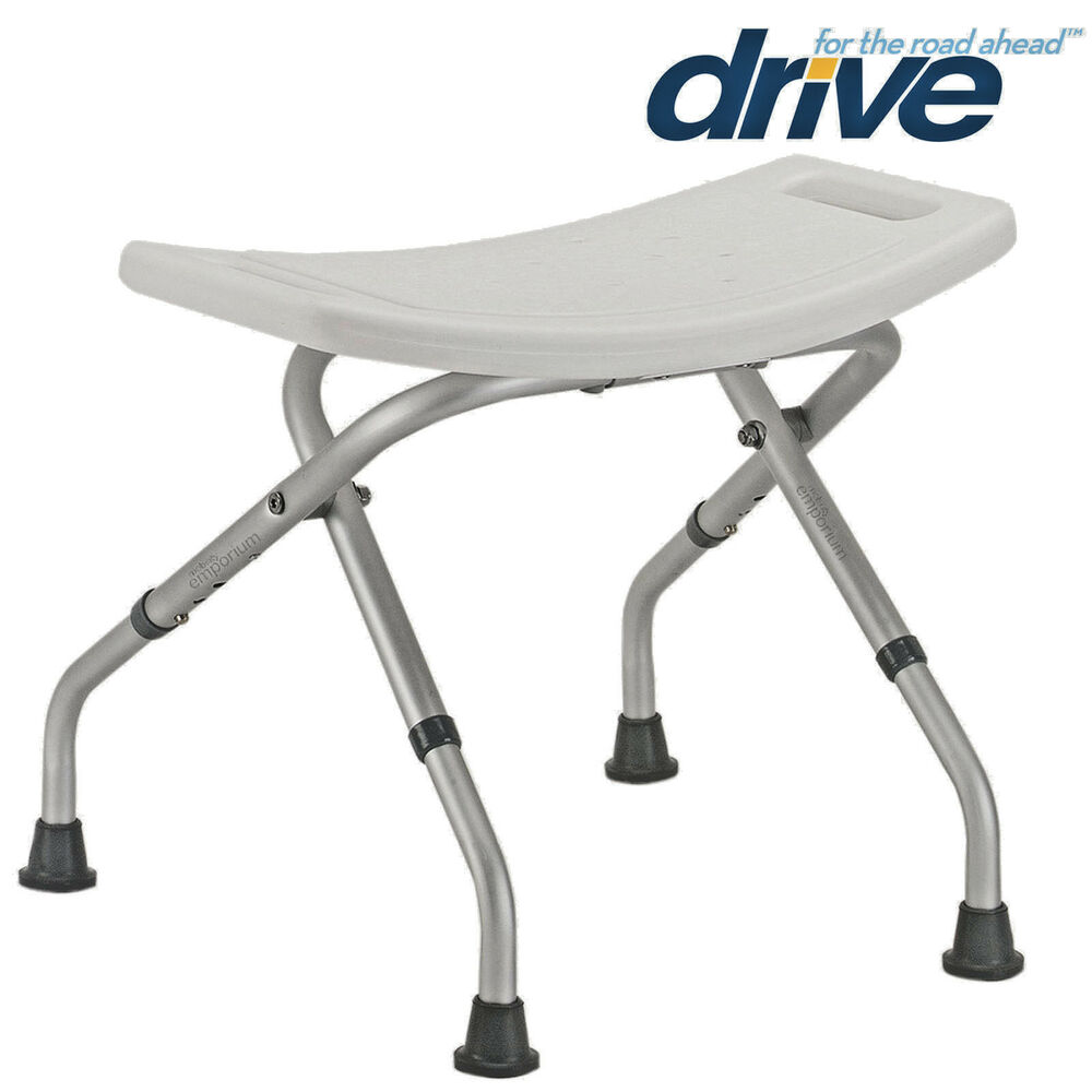 Folding Bath Shower Seat Stool Chair Adjustable Height Mobility Disability Ai