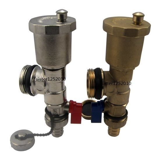 Quot automatic air vent valve set for radiant heat、 water